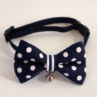 [Miya ko.] Handmade cloth grocery cats and dogs tie / tweeted / bow / cute little / pet collars