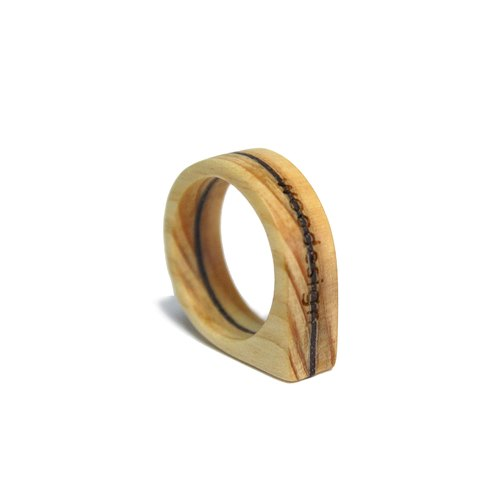 Wood Ring-Drip Free Engraving