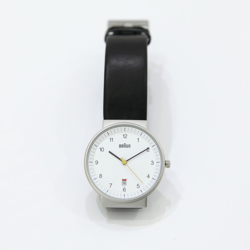BRAUN BN0032 Classic Men's Leather Quartz White