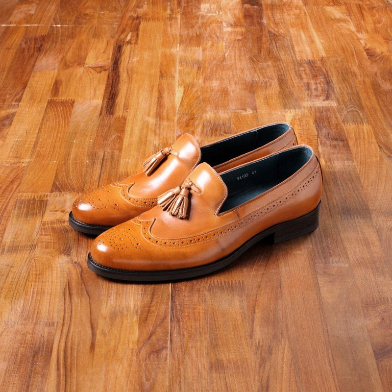 Vanger elegant and elegant ‧ Xiu elegant classical full carved wing pattern shoes Va190 brown