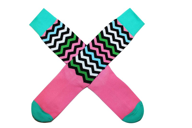 The Un-Straight and Narrow Striped Cotton Socks