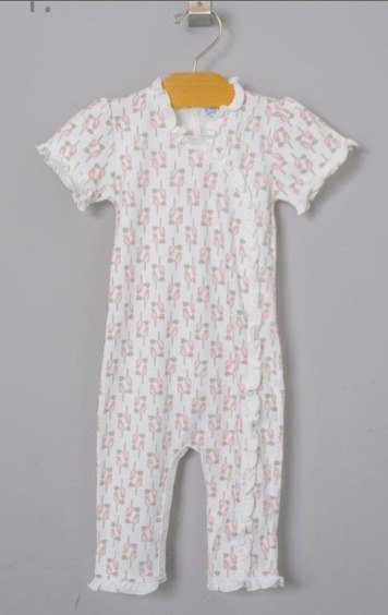US organic cotton female baby clothes - comes with matching headdress