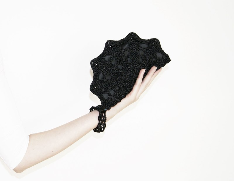 Small Black Wristlet Bag - Black Formal Clutch Bag - Small Evening Bag - Luxury Gift for Her - Evening Dress Handbag - Black Clutch Purse