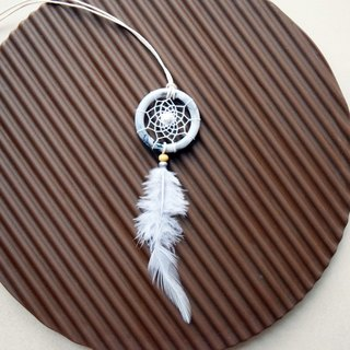 Dream Catcher // Necklace // Marble // White Turquoise