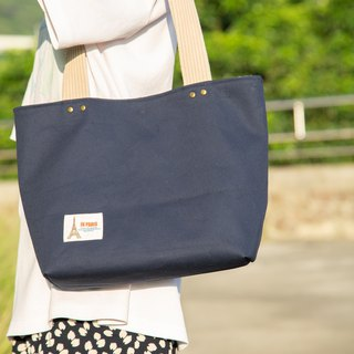 Buyers highly recommended! (Limited Edition) - Simple style - shoulder dark blue tote bag