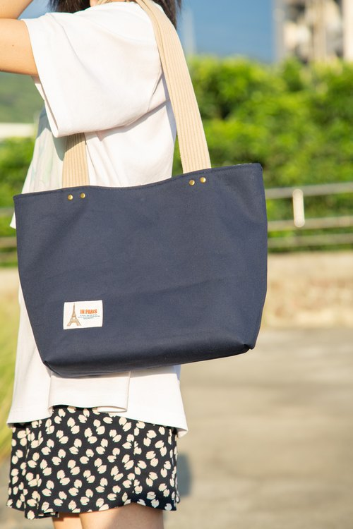 Strongly recommended! (Limited Edition) - Simple style - Shoulder and dark blue tote bag