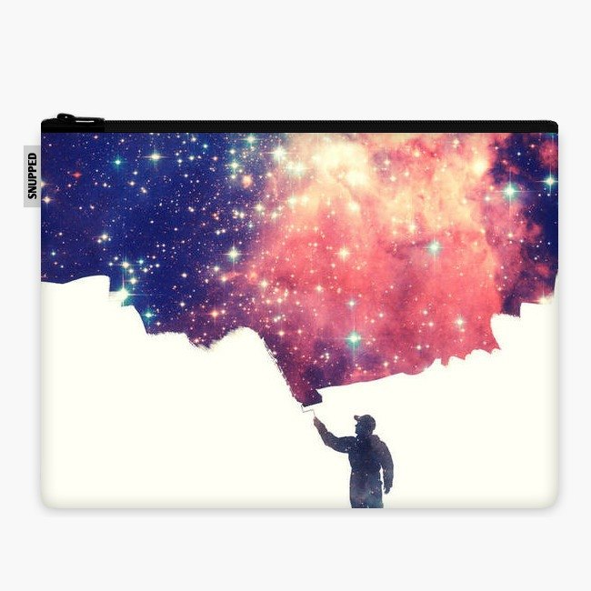 SpaceSuit - Document Pouch - Painting the universe (Awsome Space Art Design)