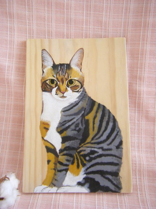 Custom hand-painted cat pictorials