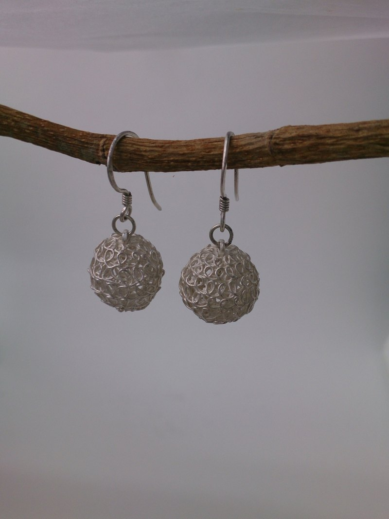 [SES] Pierced earrings, handmade silver jewelry