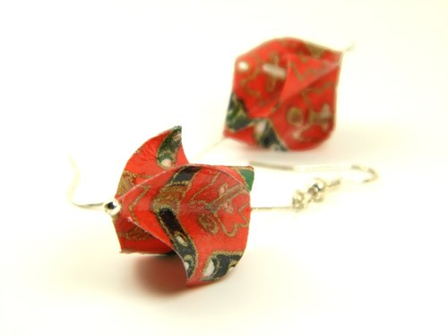 Earrings origami (Sukuryu Y01BOS2IBr)