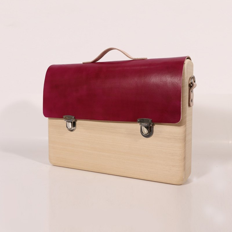 Wooden Business Tote (Rose Red)
