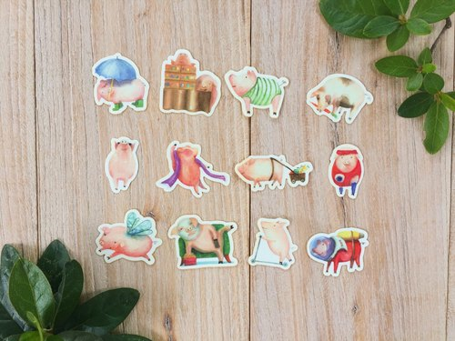 Pig's Life Stickers (Green)
