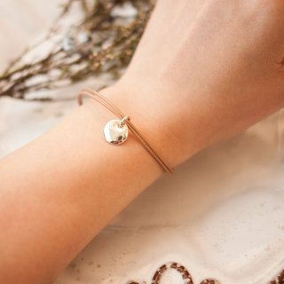 MUFFëL 925 Silver Silver Series - simple small round brand leather bracelet rope