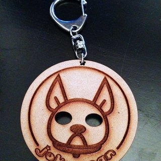 JokerMan- dog biscuits wooden key rings - round method bucket [Customizable]
