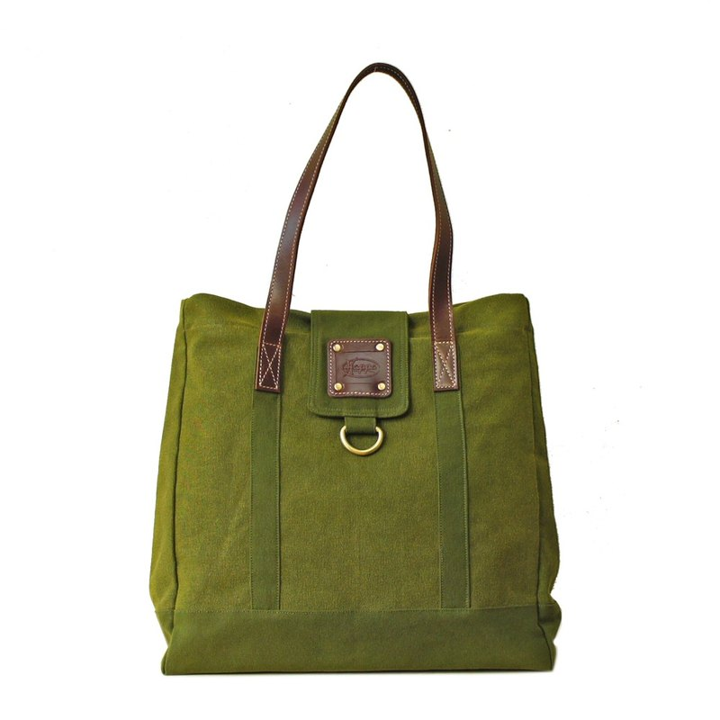 [Happa] personality Cikou Tote - stonewashed canvas classic (Olive olive green) housing the most convenient generous package