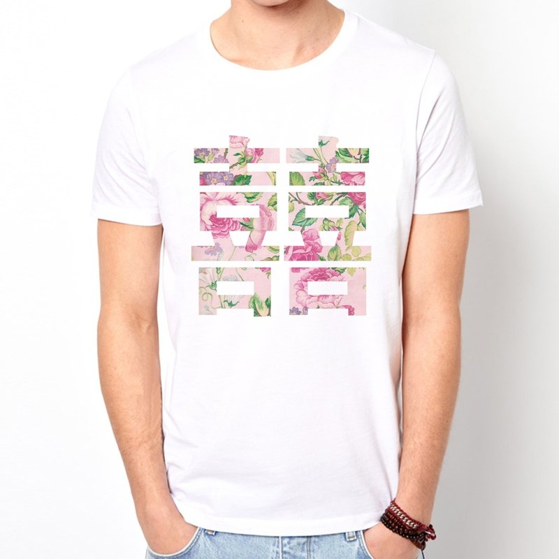 Chinese Joy-Flower  white t-shirt
