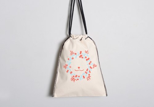 Hand-painted handprints Peibu Pouch [Christmas] lion-sided pattern