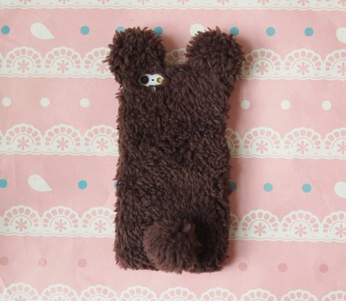 Valentine fabric super cute plush bear phone shell protective shell Samsung Galaxy S4 Note2 Note3 iPhone 5s 5c 5