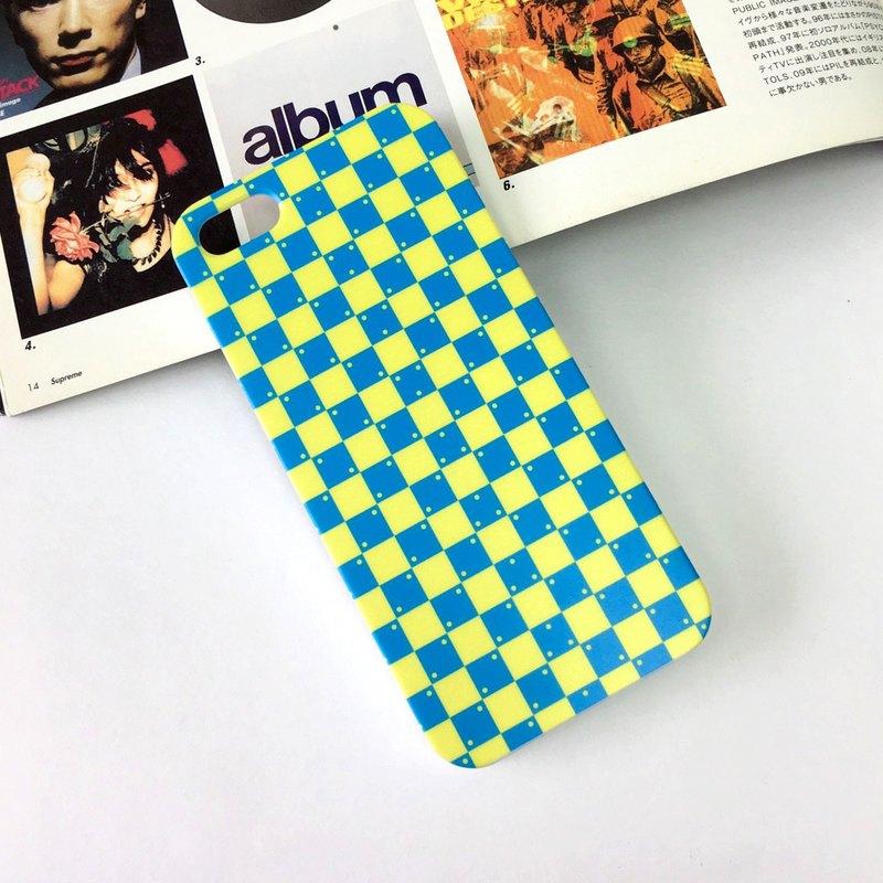 香港原創設計 玩味藍色黃色錯覺圖案  iPhone X,  iPhone 8,  iPhone 8 Plus, iPhone 7, iPhone 7 Plus, iphone 6/6S , iphon