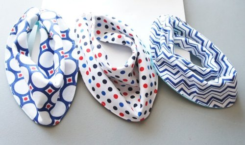 American handmade brand LouEmbres-Baby scarf / bibs / three group /