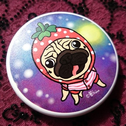 Pocket Mirror-My Pug Friend (Banana)