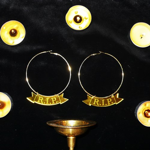 RIP old lover Sabbath big circle earrings