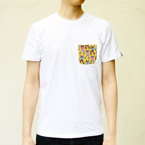 [BestFriend] Camera Uncle Pocket T-Shirt / print pocket short T