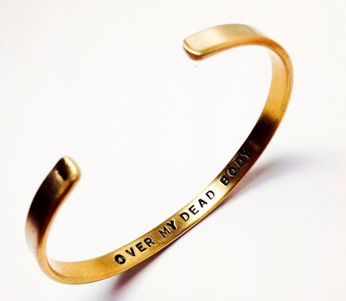 Brass bracelet. Hand lettering services (custom plus purchase) ◆ Sugar Nok ◆ (does not include bracelet)