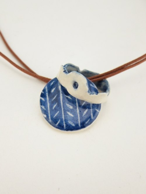 2014 Galette des Rois Series Ceramic Necklace