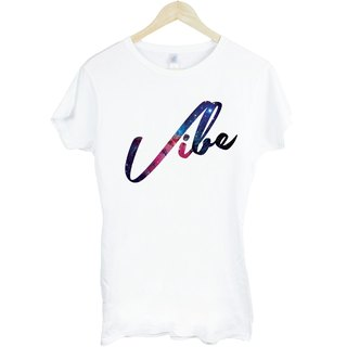 Vibe-Galaxy Girl T-shirt - white fashion galactic cosmic stylish design photo