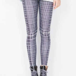 ZIZTAR metal checked leggings KW14-033