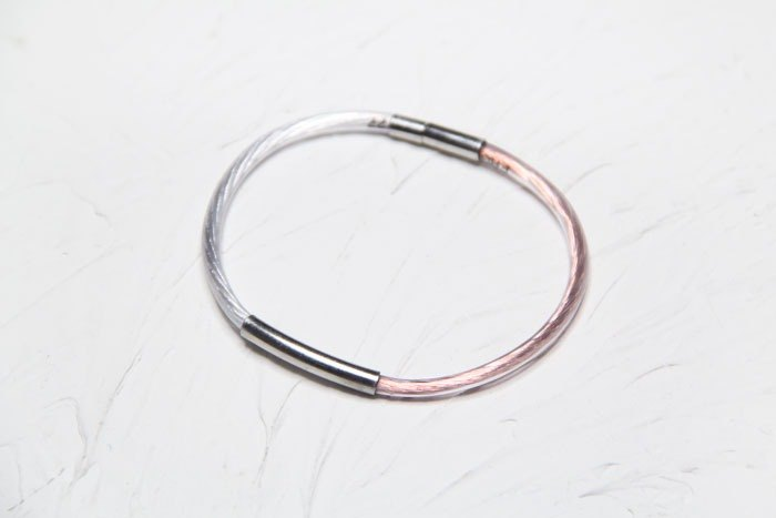 German American copper wire with silver wire waterproof sound custom handmade bracelet [Find Your Silver Lining.] Hybrid