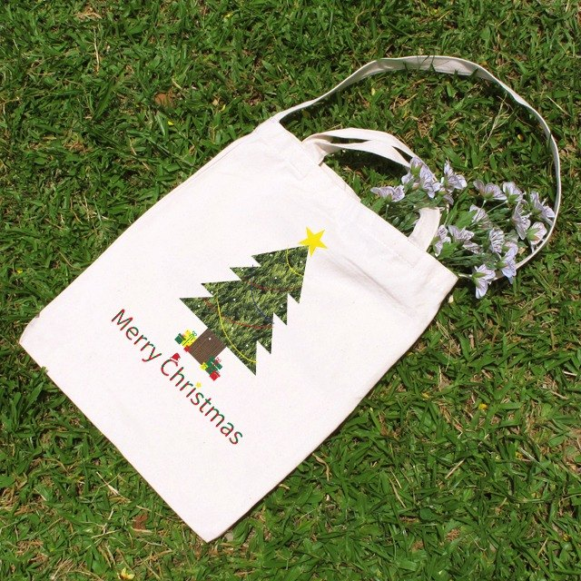 Merry Christmas cute wind straight canvas bag