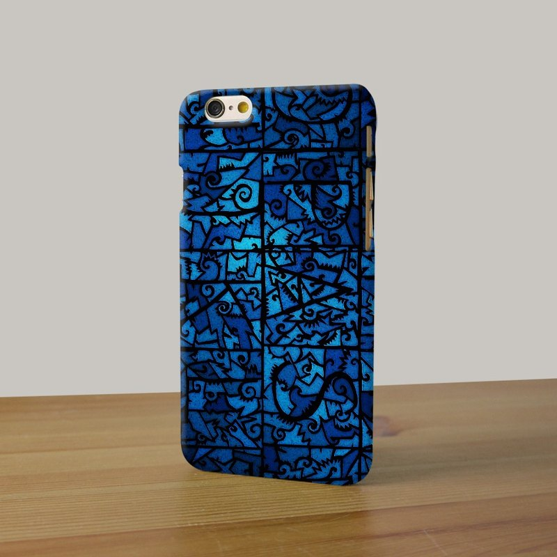 Blue Abstract Art pattern 114 3D Full Wrap Phone Case, available for  iPhone 7, iPhone 7 Plus, iPhone 6s, iPhone 6s Plus, iPhone 5/5s, iPhone 5c, iPhone 4/4s, Samsung Galaxy S7, S7 Edge, S6 Edge Plus, S6, S6 Edge, S5 S4 S3  Samsung Galaxy Note 5, Note 4, N
