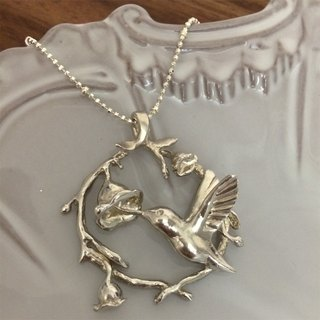 ♦ NINA SHIH JEWELRY ♦ Bees :: Sterling Silver Hummingbird Necklace - In Stock * 1
