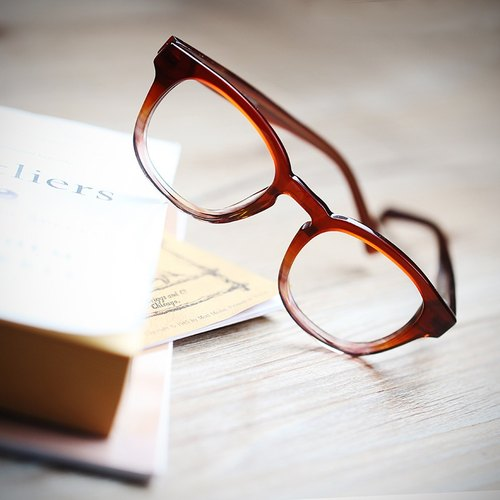 [Myth] retro round frame translucent red maple leaves in autumn sheet frame gradient hand for optical frames for little face