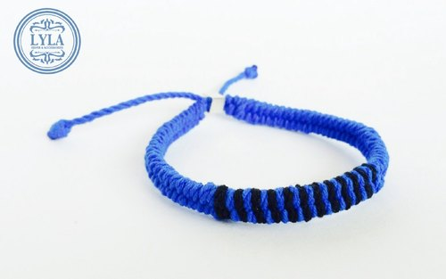 Blue and black braid