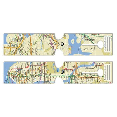 Mighty Tags(R) Paper Luggage Tag NYC Subway (10 in)