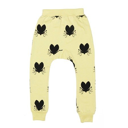 2015 Spring Beau loves yellow Love bugs harem pants