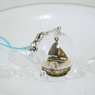 :: Cat Princess:: Glass World. Sailing and beach // charms / key rings