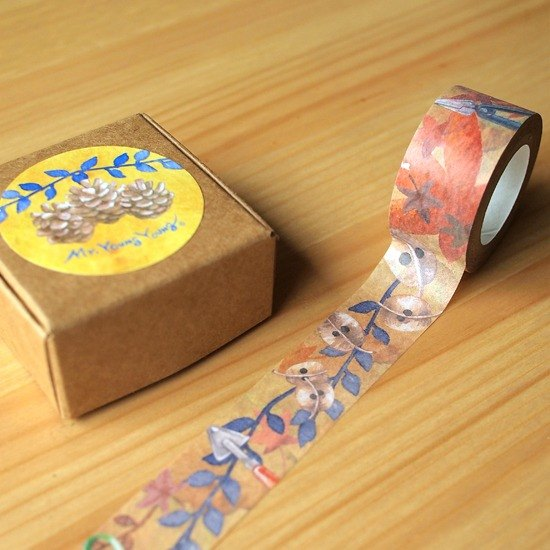 Paper tape - Wood Fruit