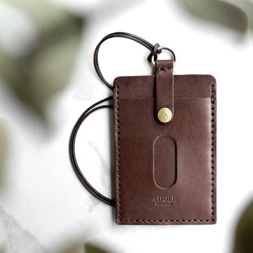 【ADOLE】 Leather Handmade DIY Kit - ID Case - Coke Brown