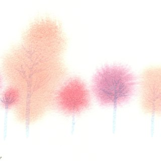 Ying Hong series of forest r1- watercolor hand-painted limited edition postcard / Christmas card