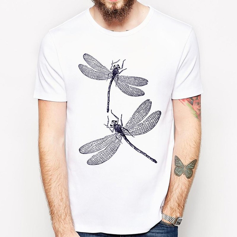 Dragonfly T-shirt -2 color dragonfly insect natural animal environment green paper art design simple minimalist chic fashion