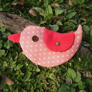 Pink little happiness Bluebird / purse