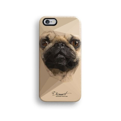 iPhone 6 case, iPhone 6 Plus case, Decouart original design pug S643