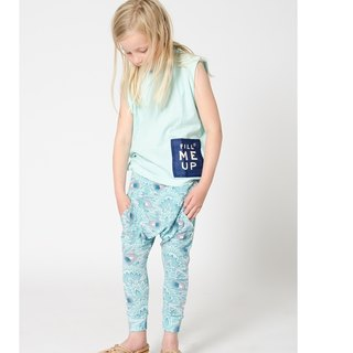 Swedish Organic Cotton Kids Shampoodle Sky Blue Pants
