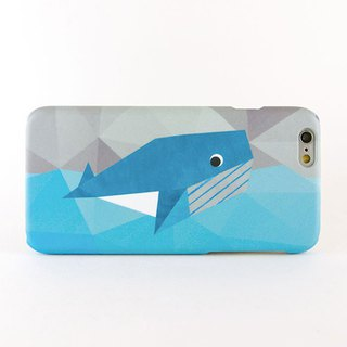 Geometric Whale iPhone case