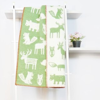Warm blanket / baby blanket / month indemnity ceremony ► Sweden Klippan organic wool warm blanket - endless dense (green)