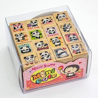 minicute stamp set - panda 16 Variable